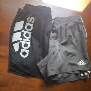 2 adidas girls athletic shorts